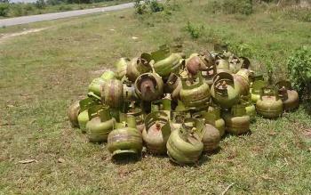 Gas elpiji bersubsidi jatah warga RT 1 dan 2 Kelurahan Raja Seberang ini tak jelas tujuannya.