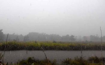 Curah hujan tinggi stiap hari akibat el nino BPBD Kapuas siaga banjir