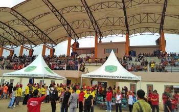 Stadion olahraga di Pulang Pisau mulai dimanfaatkan.