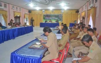 Kegiatan konsultasi publik tata hutan dan pengelolaan perencanaan hutan diwilayah yang digelar UPT. KPHP Sukamara - Lamandau.