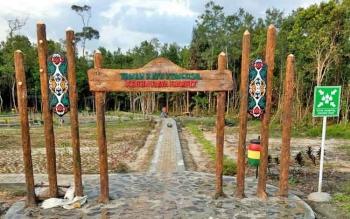 Salah satu kawasan Kebun Raya Sampit yang sudah selesai dibangun.