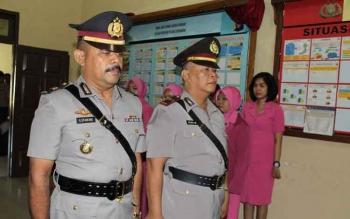 Kegiatan serah terima jabatan di Polres Sukamara.