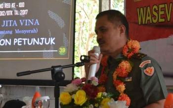 Kadispenad TNI AD Brigjen TNI Alfret Denny D Tuejeh