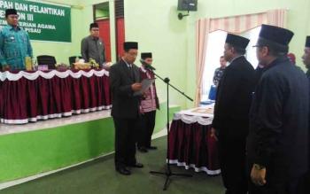 Pelantikan Kepala Kantor Kementerian Agama Kabupaten Pulang Pisau, Jumat (20/10/2017)