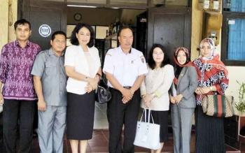 Kunjungan kerja komisi III DPRD Barsel ke SMAN 5 Palangka Raya baru-baru ini.