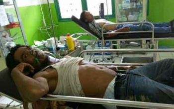 Erik dan Dedy warga Jawa Barat yang selamat saat jatuh dari tower pemancar HT di Katingan