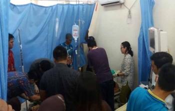 Sebelum meninggal korban sempat dirawat secara insentif di UGD RS Jaraga Sasameh Buntok, Minggu (22/10/2017)
