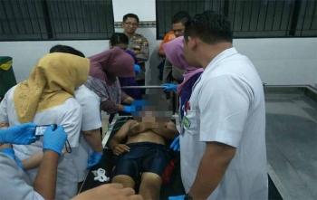 Jasad almarhum saat di ruang jenazah RSUD dr Doris Sylvanus Palangka Raya, Minggu (22/10/2017)