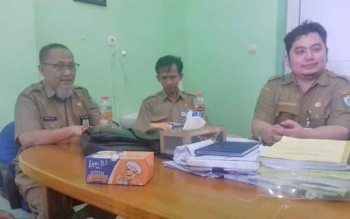 Manajemen RSUD dr Murjani Sampit saat melakukan jumpa pers terkait pelayanan rumah sakit.