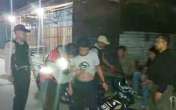 Saat jajaran Polsek Timpah lakukan rajia malam ditempat objek vital yang ada di Kecamatan Timpah.