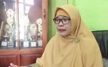 Kepala Sekolah SMPN 4 Sampit Siti Khadijah.