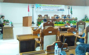 Kegiatan rapat paripurna ke-23 DPRD Kabupaten Pulang Pisau.