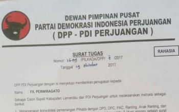 Surat Tugas yang didapat FX Perwiragato