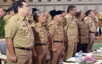 Gubernur Kalteng menghadiri Rapat Koordinasi Nasional persiapan Pilkada Serentak 2018 di Hotel Kartika Chandra Jakarta, Senin (23/10/2017)