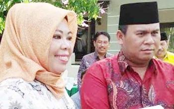 Bupati Kobar Nurhidayah dan Wakil Bupati Kobar Ahmadi Riansyah.