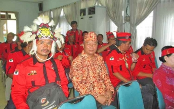 Ketua dan anggota Gerdayak Barito Utara.