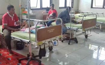 Ruang pasien RSUD dr Murjani Sampit.