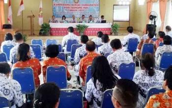Konkerkab I PGRI Kabupaten Gunung Mas di Gedung Sanggar Budaya, Kuala Kurun, Kamis (26/10/2017).