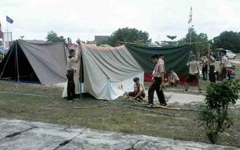 Peserta Kemah Besar di Katingan Mulai Berdatangan