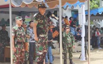 Danrem 102 Panju Panjung Kolonel Arm M Naudi Nurdikasaat menjadi irup pada penutupan TMMD ke 100