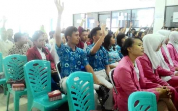 Peserta sarasehan alumni PCTA Provinsi Kalteng di aula Kesbangpol Kota Palangka Raya, Kamis (26/10/2017)