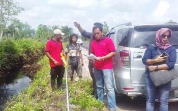Sidang pemeriksaan setempat tanah di Jalan Pelita Sampit.