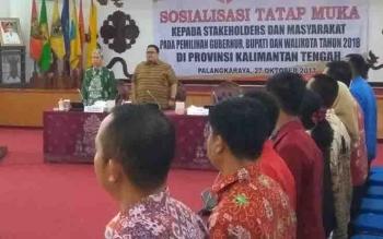 Sosialisasi yang digelar Bawaslu RI di Palangka Raya.