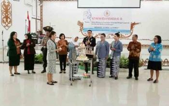 Acara peringatan HUT IBI ke- 66 di GPU Damang Batu Kuala Kuru, Jumat (27/10/2017).