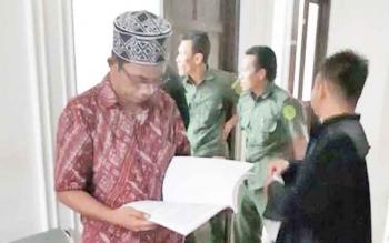 Wahyuno terdakwa kasus korupsi proyek bandara H Asan Sampit