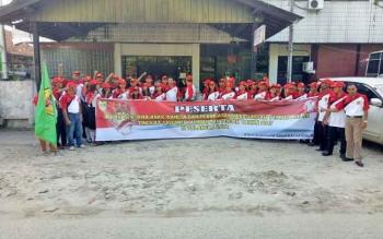 Kotingen Kabupaten Gumas sebelum mengikuti upacara HSP dan IBAB.