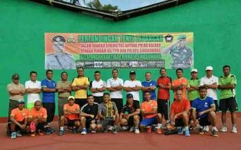 Lomba tennis antara institusi TNI Polri di Kalimantan Barat.