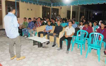Malam keakraban Himpunan Mahasiawa dan Pelajar Kabupaten Katingan (HIMAPAKAT) di Palangka Raya, Sabtu (28/10/2017)