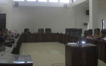 Rapat Badan Musyawarah dalam rangka membahas agenda DPRD Barito Utara, Rabu (1/11/2017).