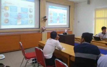 BPS presentasikan kondisi ekspor impor di ruang Vicon BPS Kalteng, Rabu