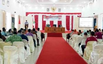 Peserta rapat koordinasi Program Keluarga Harapan (PKH) yang digelar DinsosPMDPP-PA Sukamara.