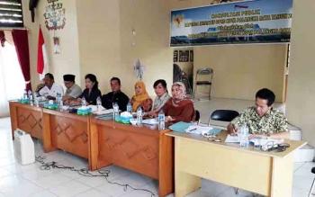 Bapemperda DPRD Kota Palangka Raya lakukan konsultasi publik di Kecamatan Jekan Raya, Kamis (2/10/2017).