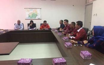 Komisi III DPRD Kotim saat koordinasi dengan BNK Kalteng.