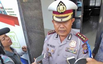 Direktur Lalu Lintas Polda Kalteng, Kombes Pol Eko Waluyo memberikan keterangan kepada wartawan.