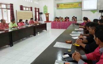 Sosialisasi program pembangunan kesejahteraan sosial di aula kantor Kecamatan Kurun, Jumat (3/11/2017)