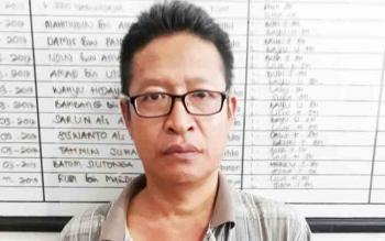 Ahmad Syabani alias Incung tersangka kasus sabu.