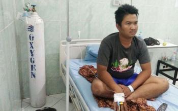 Seorang warga asal Gunung Mas yang menderita DBD sedang dirawat di RSUD Doris Silvanus Palangka Raya