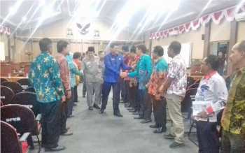 Anggota DPRD dan jajaran SOPD Kotim usai paripurna menyampaikan hasil reses.