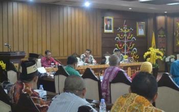 KPK monitoring dan evaluasi rencana aksi pencegahan korupsi di Kalteng, Jumat (3/11/2017).