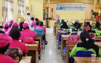 Bupati Sukamara, Ahmad Dirman saat membuka kegiatan Jambore Kader PKK Kabupaten Sukamara.