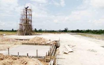 Pembangunan alun-alun yang merupakan salah satu item pekerjaan fisik Dinas PUPR Lamandau