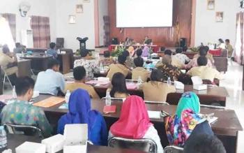DPMD Lamandau mengadakan pelatihan BUMDes, Selasa (7/11/2017)