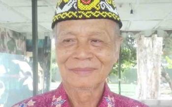 Ketua Dewan Adat Dayak (DAD) Kabupaten Kapuas, Talintig E Toepak.