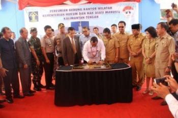 Gedung Baru Kanwil Kemenkumham Kalteng Terluas se-Indonesia