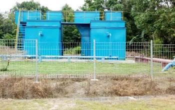 Fasilitas pengolahan air bersih PDAM Kabupaten Sukamara