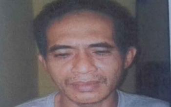 Achmad Saufi, tersangka pengedar sabu.